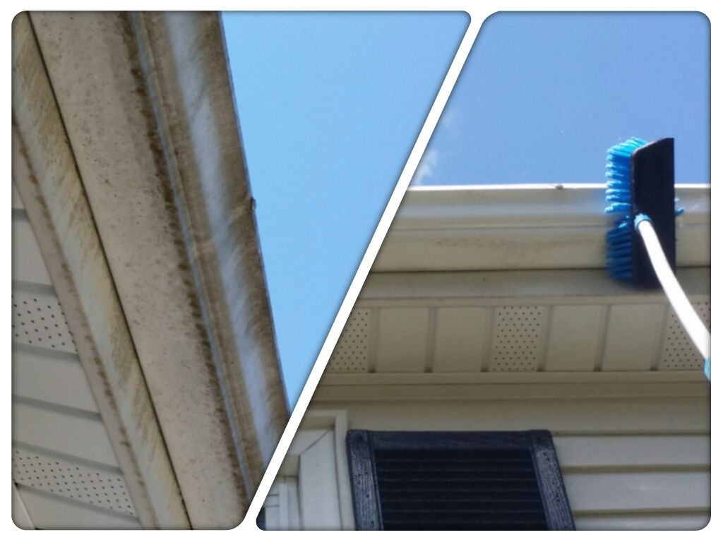 Cleaning Exterior Gutters - Power JetVac